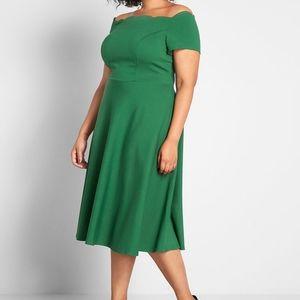 Modcloth Timeless Favorite Off-the-Shoulder Dress